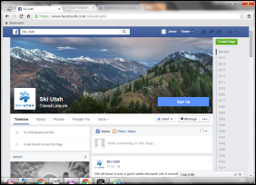 Ski Utah Facebook Screengrab