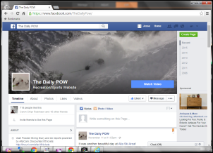 The Daily POW Facebook Screengrab