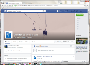 Wasatch Snow Forecast Facebook Screengrab